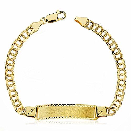 18k Gold hohlen ungarischen Slave 21.5cm. [AA2418GR] – Anpassbare – AUFNAHME IN PREIS ENTHALTEN -