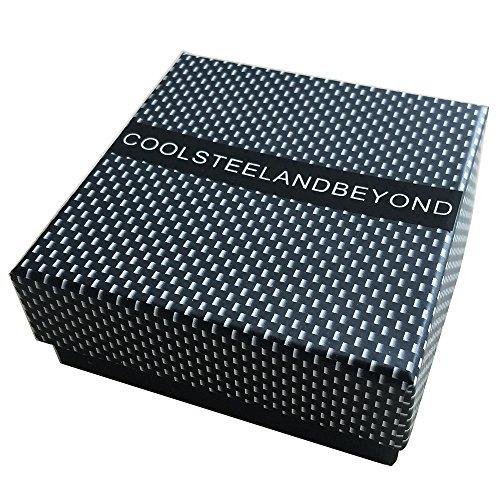 22CM Top-Qualität Herren-Armband Edelstahl Fahrradkette Motorradkette Silber Schwarz Zwei Töne Hochglanz Poliert -