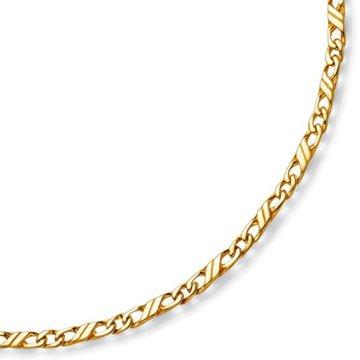 3mm Jeu-Armband Armkette Armschmuck, 333 Gold Gelbgold massiv, 19cm -