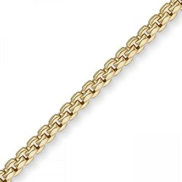 5,5mm Phantasie Armband Armkette Armschmuck aus 585 Gold Gelbgold, 19cm