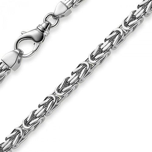 5mm Armband Armkette Königskette aus 585 Gold Weißgold, 22cm, Herren -