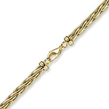 6mm Armband Armschmuck Armkette Zopfkette 585 Gold Gelbgold, 21cm