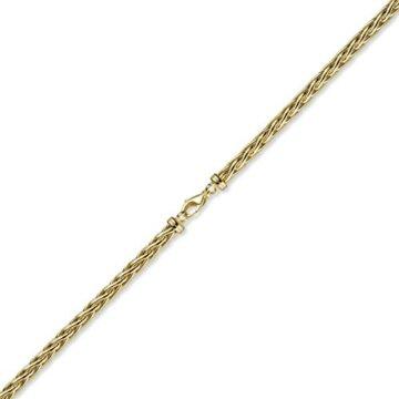 6mm Armband Armschmuck Armkette Zopfkette 585 Gold Gelbgold, 21cm -