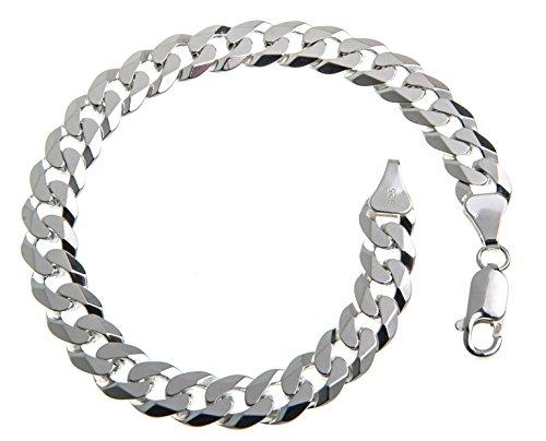 7,5mm Panzerkette Armband, Länge wählbar 16-25cm – echt 925 Silber