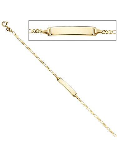 8 k ( 333 ) Gold Armband – B 25,00 mm – H 5,00 mm – T 0,80 mm – L 18.5 cm -