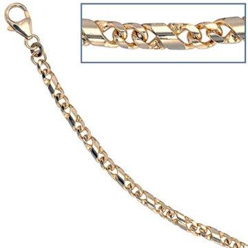 8 k ( 333 ) Gold Armband – B 3,90 mm – T 1,90 mm – L 19 cm -