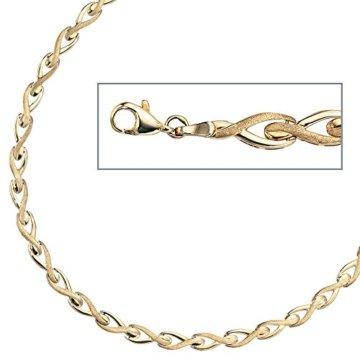 8 k ( 333 ) Gold Armband – B 5,50 mm – T 2,00 mm – L 19 cm -