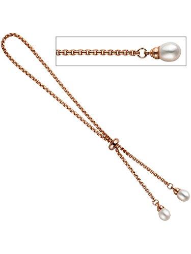 8 k ( 333 ) Silber Armband mit Perle im Stil einer Venezianierkette – China – Zuchtperle – B 1,90 mm – T 1,90 mm – L 25 cm -