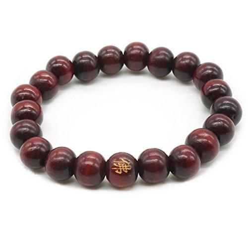 8MM Buddha Perlen Santal Meditation Gebet Mala Natur Holz Armband Herren Damen Elastizität Armband