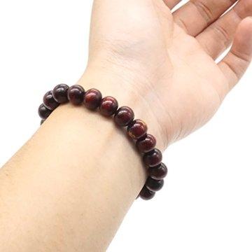 8MM Buddha Perlen Santal Meditation Gebet Mala Natur Holz Armband Herren Damen Elastizität Armband -