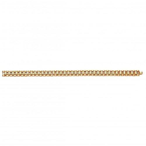 9ct Gelb Gold Luxus Stil Gents Armband 28,5g -