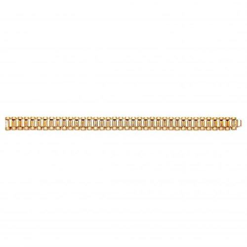 9ct Gelb Gold Luxus Stil Gents Armband 40.0G -