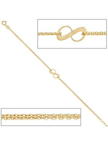 9 k ( 375 ) Gold Armband – B 7,30 mm – T 0,80 mm – L 19 cm