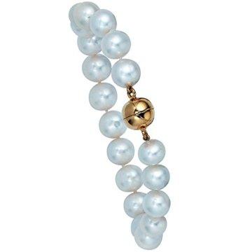 925 Sterling Perlen Armband mit Perle – China – Zuchtperle – L 19 cm – Ø 9,50 mm