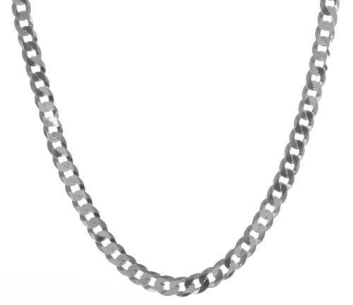 925 Sterling Silber Herren – Panzer Kette – 56cm, 4mm, 10 Gramm