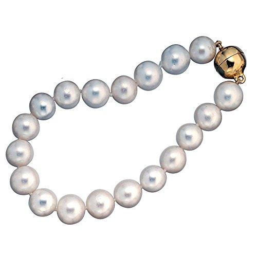 925 Sterling Perlen Armband mit Perle – China – Zuchtperle – L 19 cm – Ø 9,50 mm -