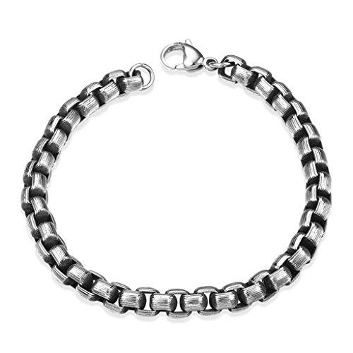 AMDXD Juwelier Vergoldete Herren Armband Feder Design Link Armbänder 20.3CM