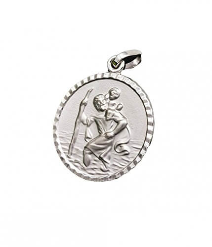 ASS 925 Silber Anhänger Christophorus Christopherus Reiseamulett Glücksbringer,diamntiert,16mm