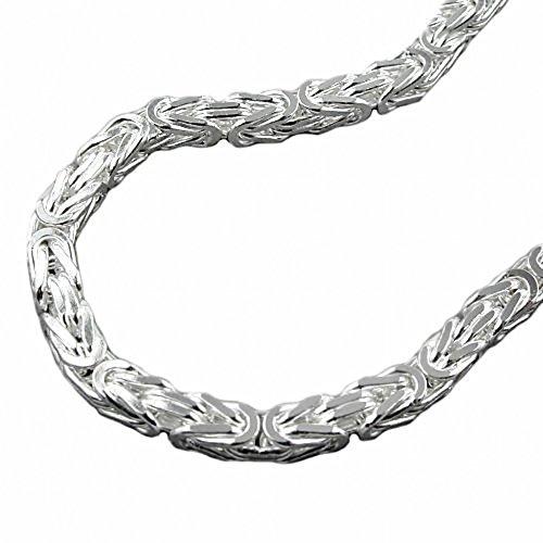 ASS 925 Silber Königskette Armband 3mm x 3 mm 19 cm, vierkant, massiv