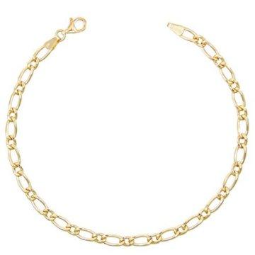 Armband, Figarokette 1+1, Gelbgold