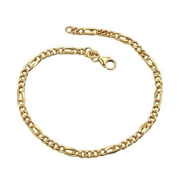 Armband, Figarokette 19cm, 9Kt GOLD