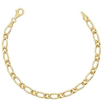 Armband, Gelbgold, Figarokette 1+1
