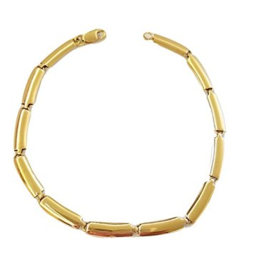 Armband Herren Damen Vibrator glatt in Gold Gelb 18kt–7506,80g