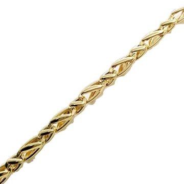 Armband Herren Strick geflochten Gold Gelb 18Karat 750/0002,90grammi- Made in Italy
