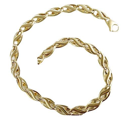Armband Herren Strick geflochten Gold Gelb 18Karat 750/0004,10grammi- Made in Italy