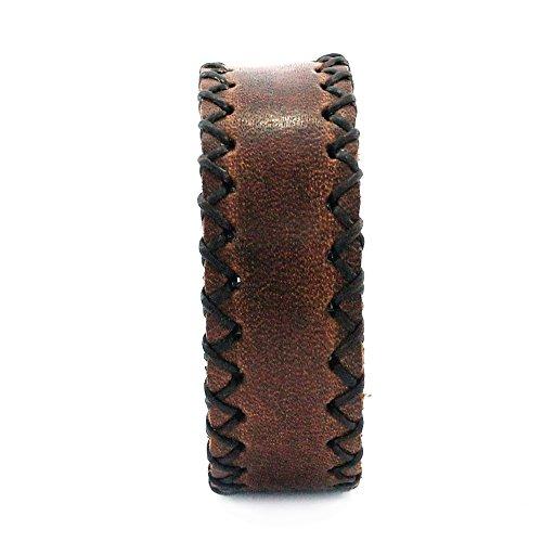 Armband Rustikaler Herrenarmband Lederarmband echtes Leder Braun b = 2 cm
