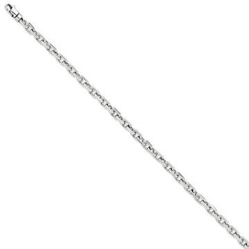 Armband Schmuck 4,25 mm Weiß Kette Lust auf Gold Link feine Geschenk 14k Männer –