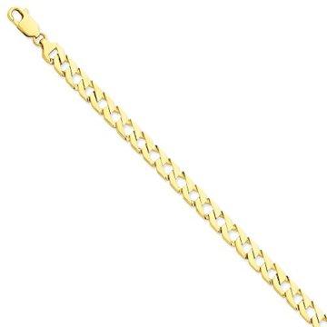 Armband Schmuck Gelb 7,00 mm Kette Lust auf Gold Bordstein feine Geschenk 14k Männer –