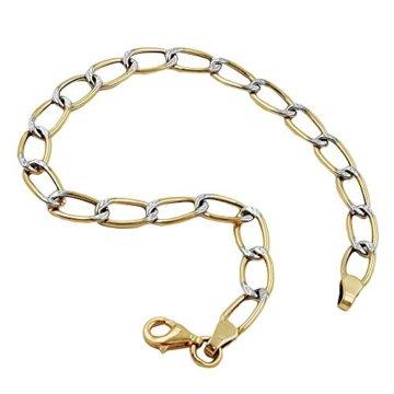 Armband, Weitpanzer bicolor, 9Kt GOLD
