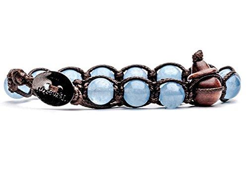Armband tibetische buddhistische Tamashii Achat Ocean Blue bhs900–31mainapps