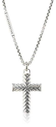 Baldessarini Herren-Halskette Kreuz 925 Sterlingsilber vintage-oxidized 55 cm