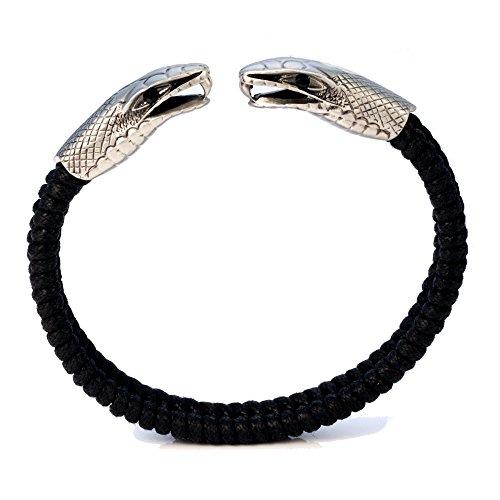 Bico Dueling Serpent Handgewebtes Verstellbarem Lederband (CA28) – Seelenbeschützer – Street Schmuck