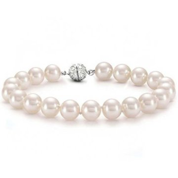 Bling Jewelry Brautschmuck 12mm Südseemuschel Rosa Perle Armband