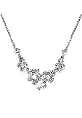 C-Collection by CHRIST Damen-Kette 925er Silber 21 Kristall One Size, silber