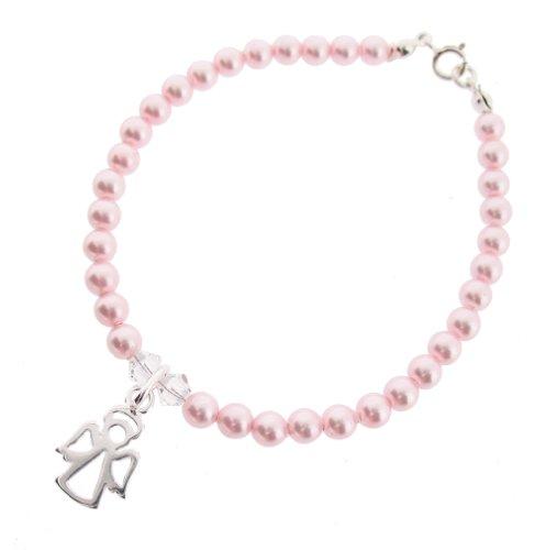 Chic A Boo Swarovski Kristall, mit Perlenanhänger Sterling Silber Armband 17 cm