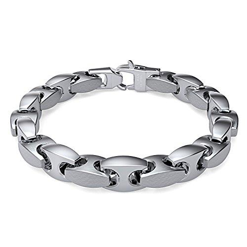Coolman Schmuck Herren Armbänder Edelstahl-H-Link Armband 8,8 Inch