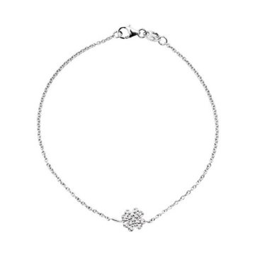 Diamonds & You-Armband 18 Karat Kette Weiß Gold-Diamant 0,08 ct Vendôme, 18 cm-AM- BRAC CLOV 008 B