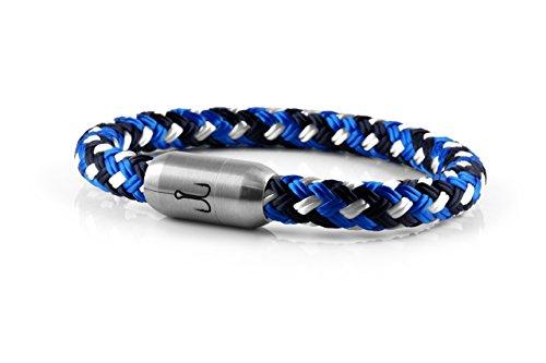 """FISCHERS FRITZE® Segeltau Armband """"MAKRELE 2.0"""" Blau Gemustert"""