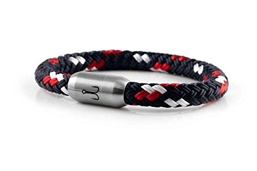 """FISCHERS FRITZE® Segeltau Armband """"MAKRELE 2.0"""" Blau Rot Weiß"""
