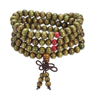 Gebet Perlen Armband Natur Holz Tibetischen Buddhistischen Buddha Meditation Halskette