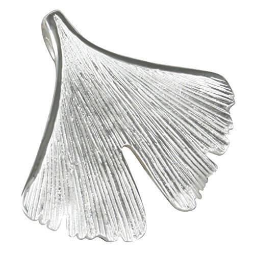 Ginkgoblatt Anhänger aus 925-Silber