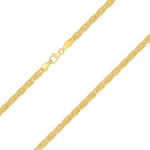 Goldarmband Herringbone Kette aus Gelbgold 375 / 9 Karat, Breite 3.8 mm, mit Karabinerverschluss mit Schlaufe, die Länge ist frei wählbar. NEU