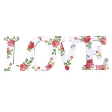 Hochzeitdeko Holz-Buchstaben 'LOVE' Schriftzug Hochzeit Geldgeschenk Blumen