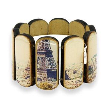 Holzarmband Stadtmotive – Paris oval