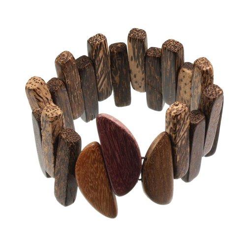 Holzschmuck Armband Armreif aus Palmenholz Holz Unisex PA1880