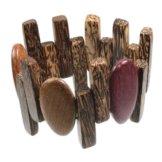Holzschmuck Armband Armreif aus Palmenholz Holz Unisex PA1882